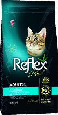 REFLEX PLUS - REFLEX PLUS CAT STERİLİSED SALMON 1,5 KG
